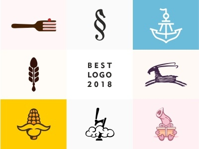 Top logo 2018 best top 2018 design dribbble color illustration logotype icon logo
