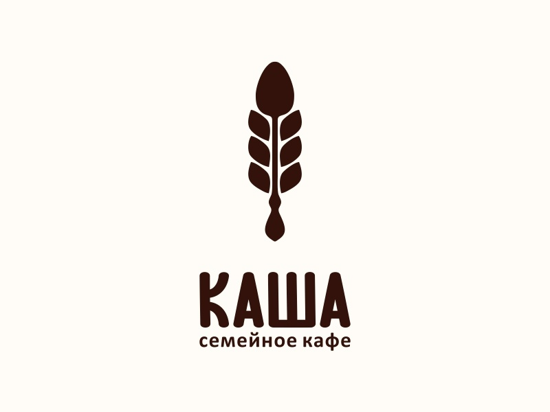 "Family cafe ""Kasha"" kasha porridge family food cafe cereal icon logotype logo"