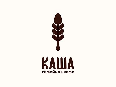 """Family cafe """"Kasha"""" kasha porridge family food cafe cereal icon logotype logo"""
