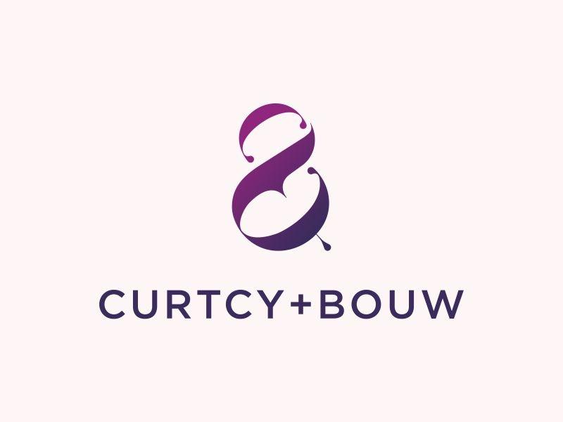 Curtcy & Bouw font b c ampersand monogram logotype icon logo