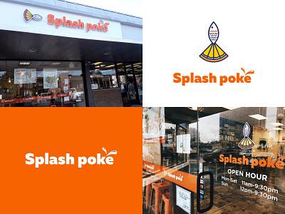Logo in life sea hawaii hawaiian food poke splash poke splash fish logo fish bowl fish color food logotype icon logo