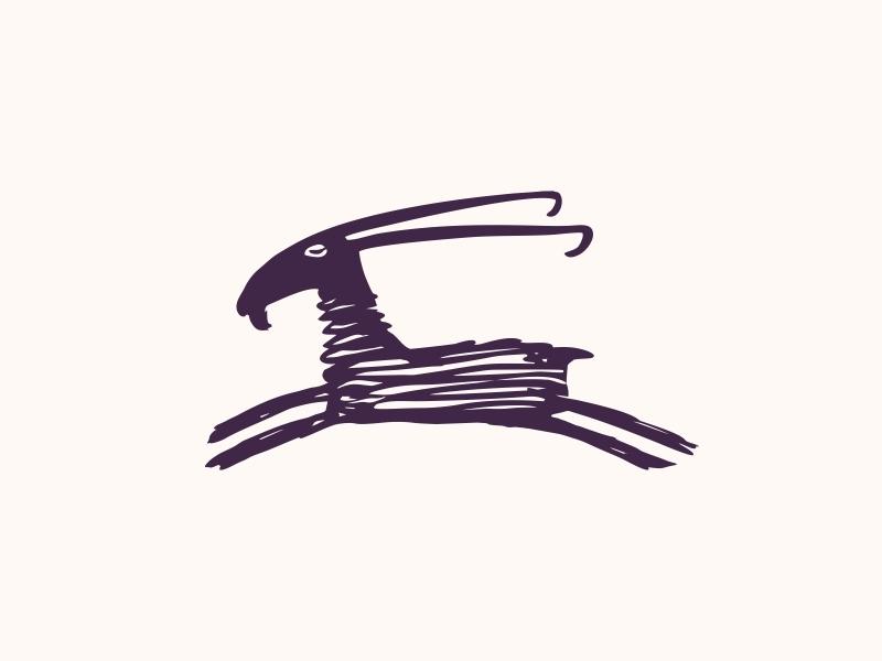 Goat animal knitting score goat branding design dribbble logotype logo