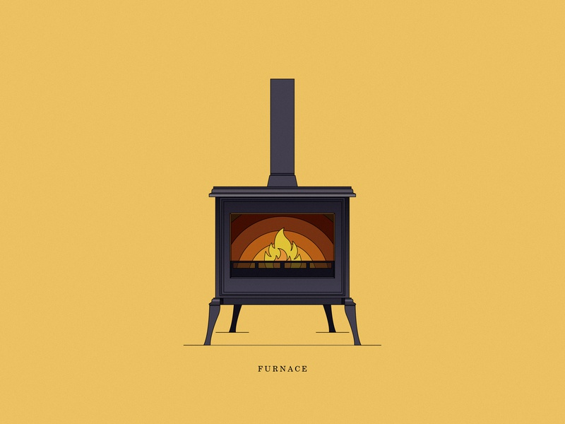 Furnace furnace interior interior designs fire illustration icons design vector store color line dribbble icon