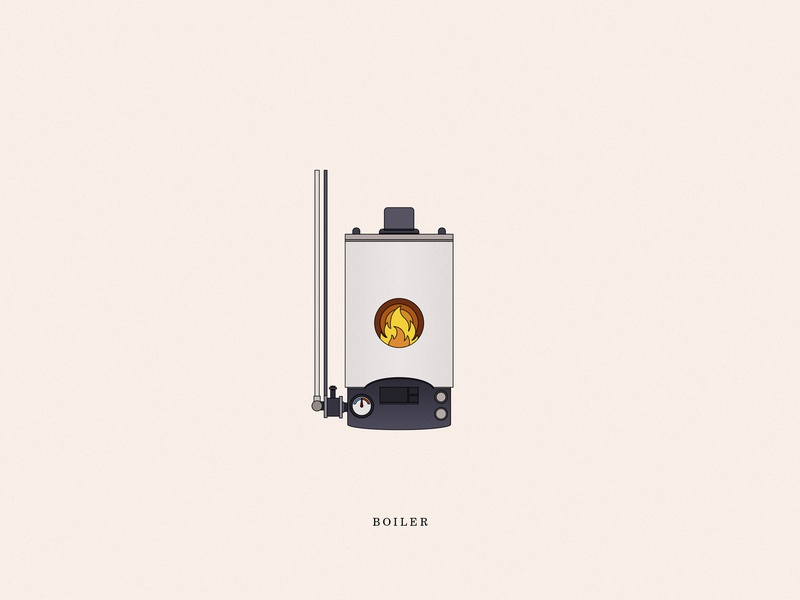 Boiler vector store interior illustrations illustration icon line fireplace boiler fire dribbble design color