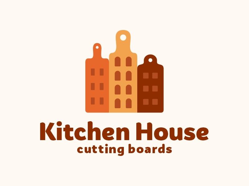Kitchen House cutting orange window city board kitchen house logo sale sale design color food dribbble logotype icon logo