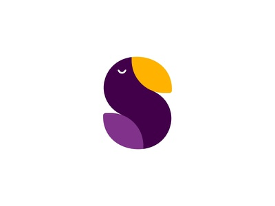 Bird fowl birds letter s bird design sale logo sale color dribbble logotype icon logo