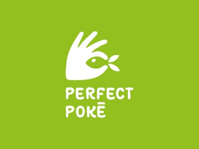 Perfect poke caffee restaurant perfect poker illustration sale design green food dribbble logotype icon logo