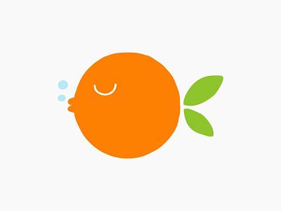 Poke station hawaii poker water ocean sea design fruit orange fish color food dribbble logotype icon logo