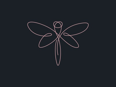 Dragonfly clothing clothing design branding dragonfly vector line dribbble logotype logo