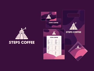 Style Steps coffee steps pyramid food coffee shop coffee house coffee grinder coffee store vector branding illustration design color dribbble icon logotype logo