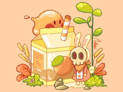 The Bunny who loves Orange Juice