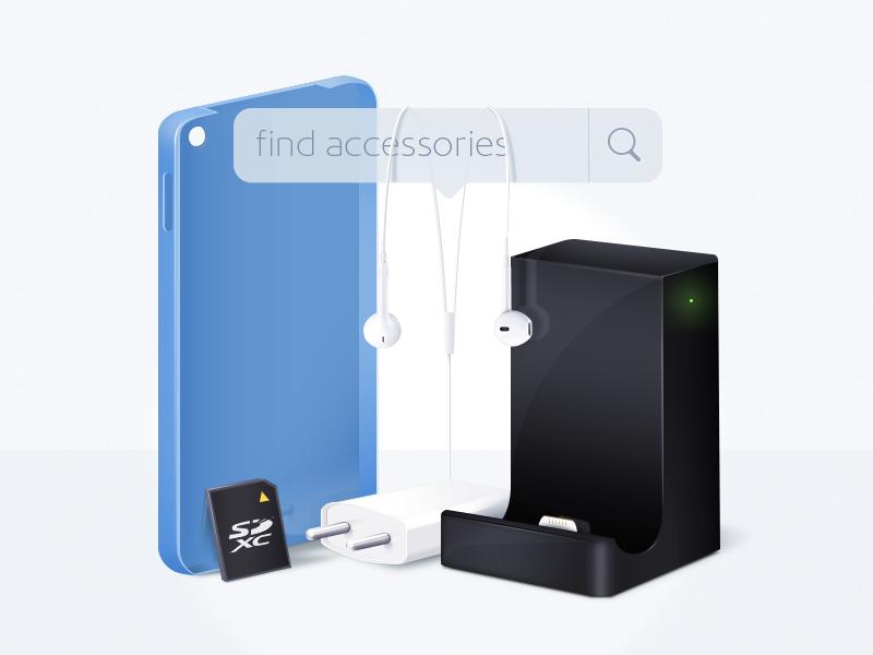 Key image for seeking accessories service illustration svyaznoy