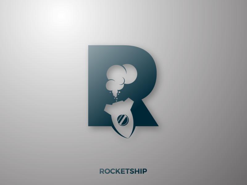 ROCKETSHIP LOGO DESIGN CONCEPT logos retro desain logo rocketship rocketship logo logorocket rocket illustration typography branding logotype logogram logodesign logo design