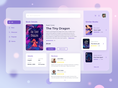 Book Store App app shot trendy gradient ui  ux design