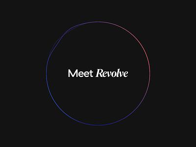 Revolve Campaign Animation studio revolve wave launch displace illustration icon animation ae motion animation sphere oval futuristic dark