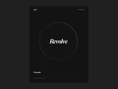 Revolve marketing material dark sphere oval gradient futuristic editorial collateral marketing collateral wave proposal revolve studio