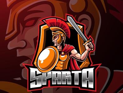 Spartan sport mascot logo design