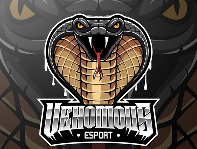 Cobra head mascot logo design