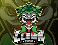 Clown sport mascot logo design