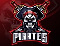 Pirates mascot gaming logo design