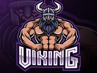 Viking mascot gaming logo design