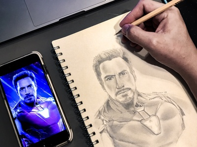Tony Stark/Ironman Sketch