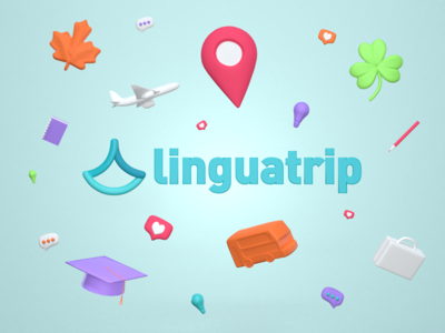 Linguatrip Brand Art Proposal ✈️🧳🏝