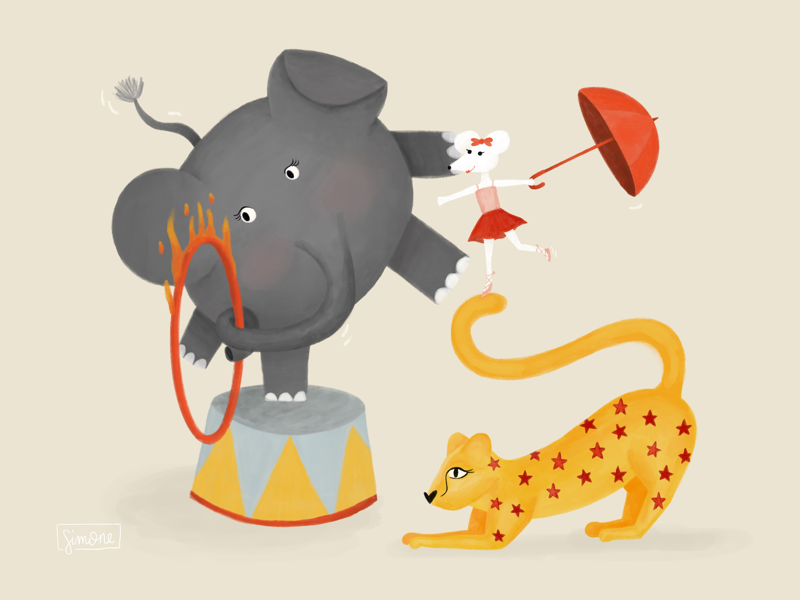 Circus Animals circus leopard mouse elephant