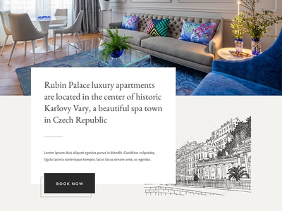 Website concept for luxury rental apartment sketch homepage design website design ux user experience hotel apartments luxury ui