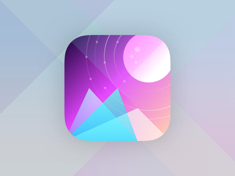 App Icon - 005 #dailyui sketch vector illustration daily 100 gradient mountains space icon artwork icon gradients app icon designer app icon design app icons app icon dailyui 005 dailyui