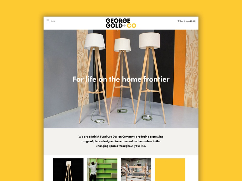 Brand & Website for Furniture Maker shopify theme ecommerce shopify brand design brand identity design brand identity branding homepage website