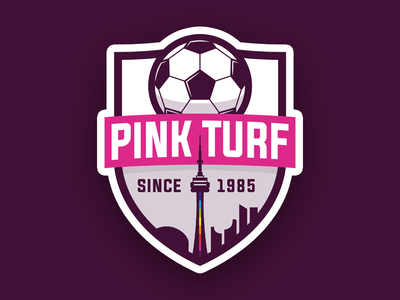 Logo design for Pink Turf Soccer League
