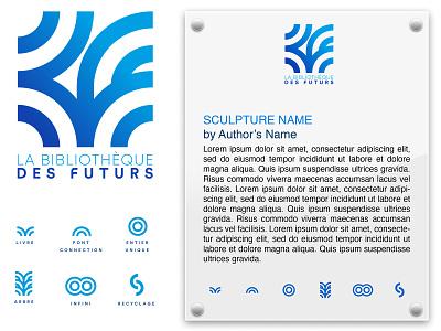 La Bibliothèque Des Futurs branding and identity branding design branding vector typogaphy logo design logo