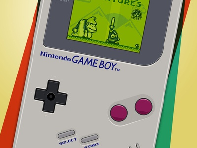Detail of Gameboy's 25th Anniversary poster.