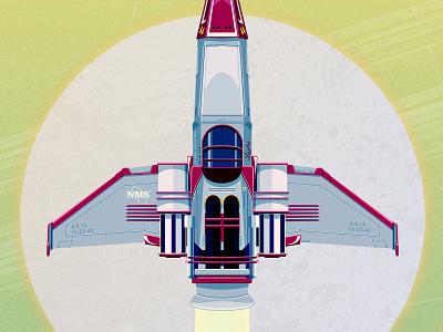 No Man Sky Poster - Detail battlestar galactica lost spaceship nasa space gaming detail poster a day poster art poster design vector illustration vector illustration video games geek geek art fan art poster nomansky no man sky