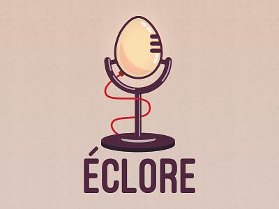 Éclore - The new creatives podcast illustration illustrator brand identity podcast branding logo design logo