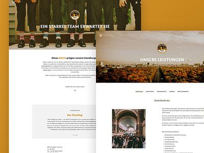 Goldbart Website security website web design ux ui rooosh photo modern goldbart interface design corporate adobe xd