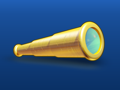 Spyglass illustration photoshop illustrator icon