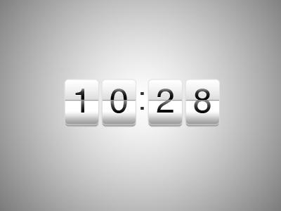 Countdown Widget PSD Asset photoshop asset file download counter clock widget