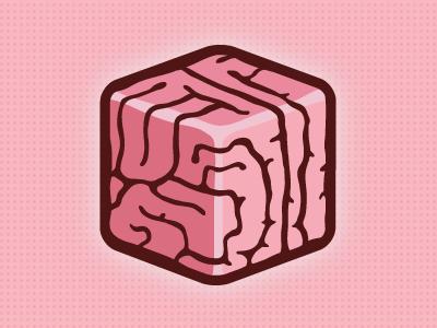 Thought Box pink logo illustration