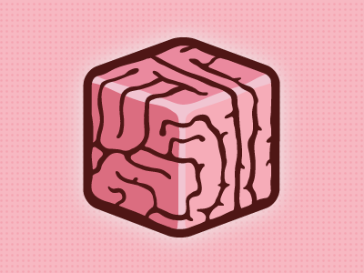 Thought Box pink logo illustration