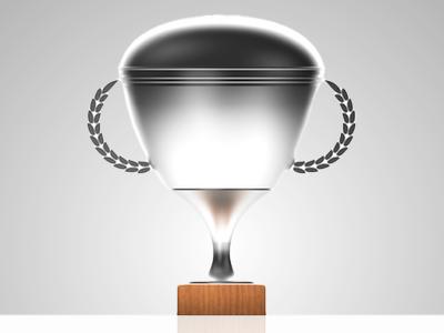 Desmo Trophy cinema4d 3d brown silver illustration