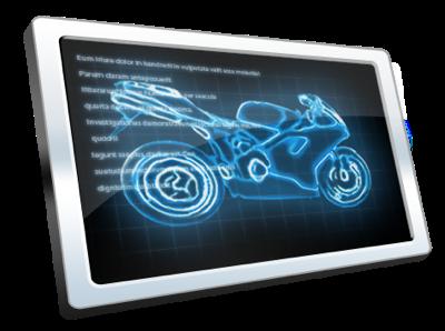 Moto Lab X-ray blue silver illustration