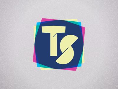 Ts Colorful logo pink blue yellow green