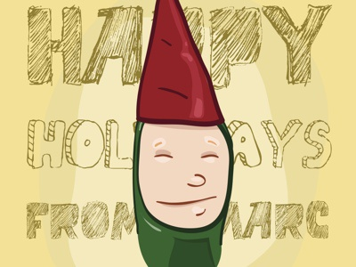 Holiday Style Sketch illustration illustrator holiday green red yellow