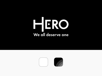 Hero Branding app design logo visual identity graphic design logo design branding