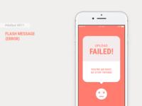 Daily UI #011 - Flash Message (Error) + Figma Freebie