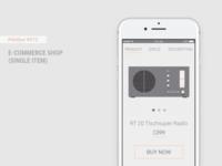 Daily UI #012 - E-Commerce Shop (Single Item) + Figma Freebie