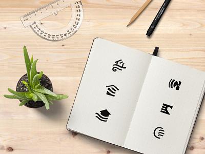 Climahub Logo Sketches branding sketches graphic design logo design