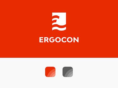 Ergocon Branding typography design logo visual identity graphic design logo design branding